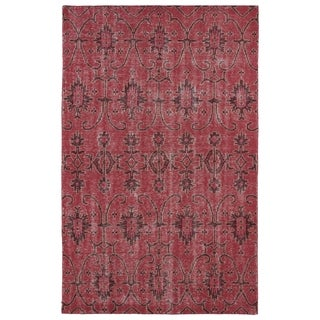 Hand-Knotted Vintage Replica Red Wool Rug (9'0 x 12'0)