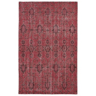 Hand-Knotted Vintage Replica Red Wool Rug (4'0 x 6'0)