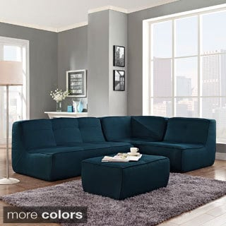 Align 4-piece Upholstered Armless Sectional Sofa