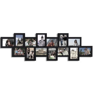 Black Wooden 14-photo Hanging Collage Picture Frame