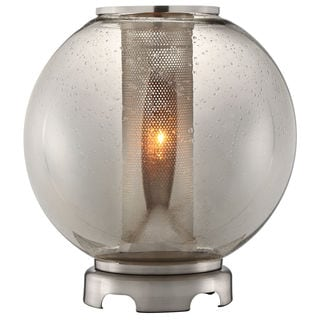 Ledston Glass and Brushed Metal Orb Table Lamp