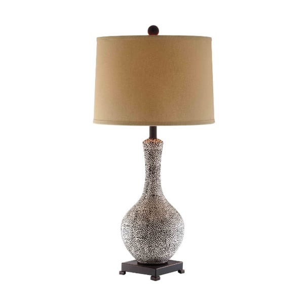 Shibden Hall Seeded Iron and Ceramic Table Lamp