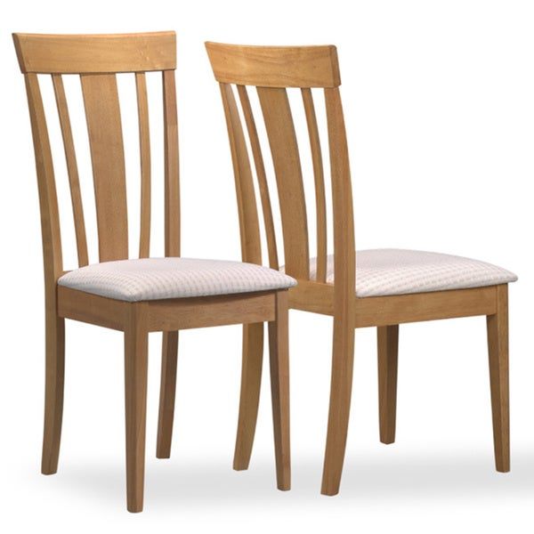 Beige Upholstered Maple Chairs Set Of 2 Dining Kitchen Living Room Modern Sty
