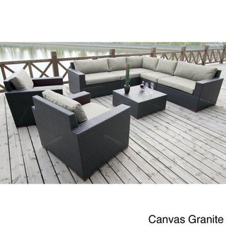 Andover 8-piece Sunbrella Fabric Conversation Sectional Set
