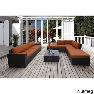 Andover 8-piece Sunbrella Fabric Conversation Sectional Seating