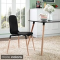 Stackable Steel-top and Wood Dining Chair