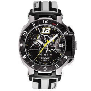 Tissot Men's 'T-Race' Black/ White Chronograph Watch