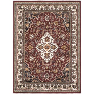 Medallion Burgundy Area Rug (5'6 x 7'6)