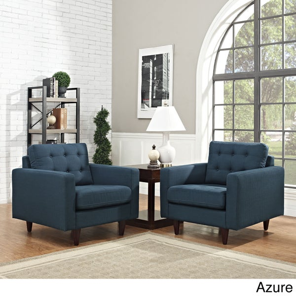 Modway 'Empress' Deep Tufted Arm Chairs (Set of 2)