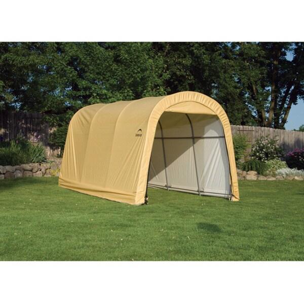 ShelterLogic Round Sandstone Auto Shelter