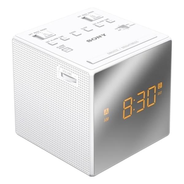 Sony ICF-C1TWHITE Desktop Clock Radio - 0.1 W RMS - Mono