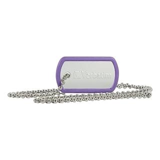 Verbatim 8GB Dog Tag USB Flash Drive - Violet