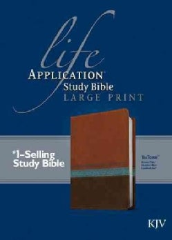 Life Application Study Bible: King James Version, Brown Tan Heather Blue, Leatherlike (Paperback)
