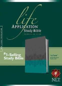 Life Application Study Bible: New Living Translation, Juniper / Gray Lace TuTone, Leatherlike, Personal Size Edition (Paperback)