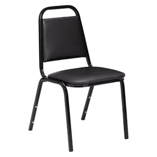 Black Padded Stack 24-chair and Dolly Set
