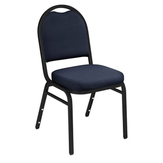 Blue Upholstered Stacking 24-chair and Dolly Set