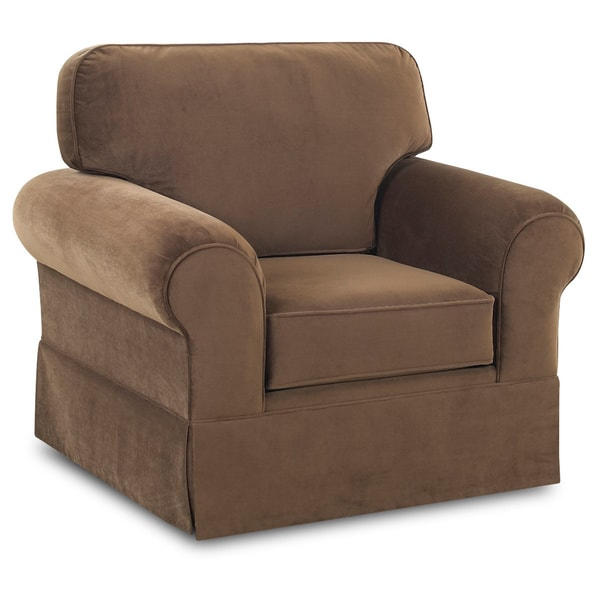 Made To Order Wyatt Chocolate Upholstered Armchair