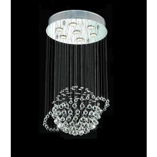 Orbee 7-light Chrome Crystal Chandelier