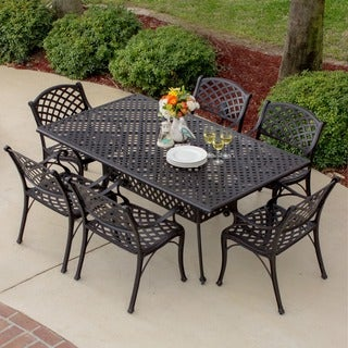 Heritage 7-piece Bronze Cast Aluminum Dining Set