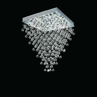 Square Falling Rain 10-light Chrome Crystal Chandelier