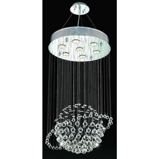 Orbee 7-light 32-inch Chrome Crystal Chandelier