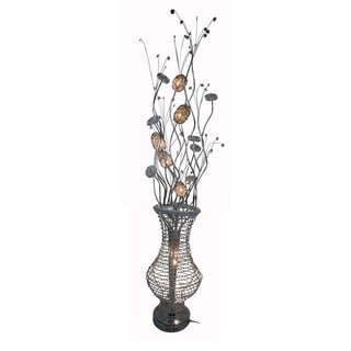 Vinvage Modern Luxury 7-light Floral Floor Lamp