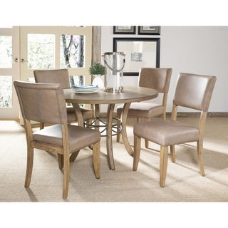 Charleston 5-piece Round Wood Base Dining Set with Parson Chair