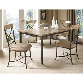 Charleston 5-piece Rectangle Dining Set with X-back Chair