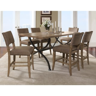 Charleston 7-piece Counter Height Rectangle Wood Dining Set with Parson Stool