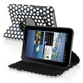 BasAcc 360 Dark Blue Dot PU Leather Case Stand for Samsung Galaxy Tab 2 7.0