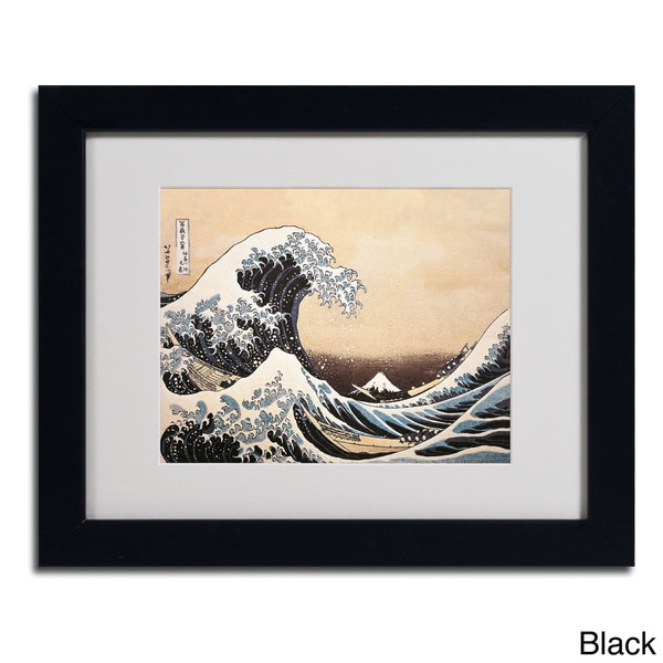 Katsushika Hokusai 'The Great Wave' Framed Matted Art