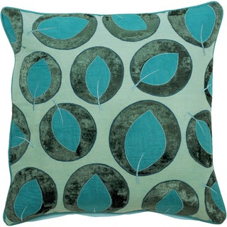 Green Lilypad Feather Filled Decorative Throw Pillow