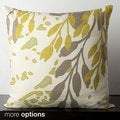 Floral Paint Spash Down Feather or Poly Filled Decorative Throw Pillow