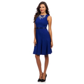 Calvin Klein Women's Byzantine Blue Sleeveless Dress