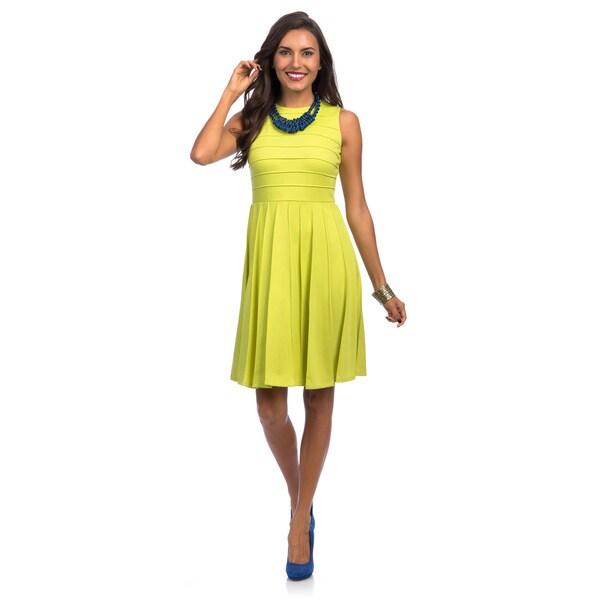 Calvin Klein Women's Citron Empire Waist Sleeveless Dress