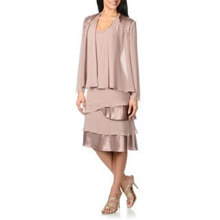 S.L. Fashions Womens 2-piece Dress Set