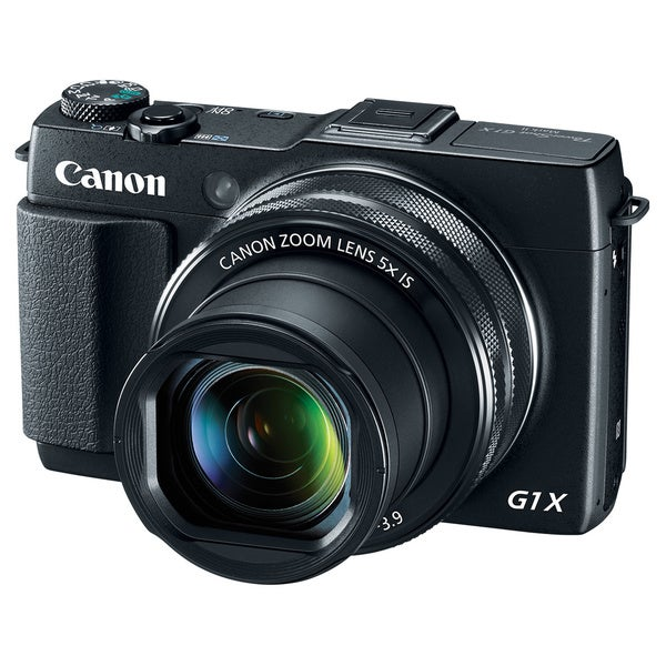 Canon PowerShot G1 X Mark II 12.8MP Black Digital Camera