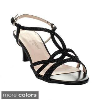 Blossom Women's 'Berk-151' Rhinestone Strap Criss-cross Sandals