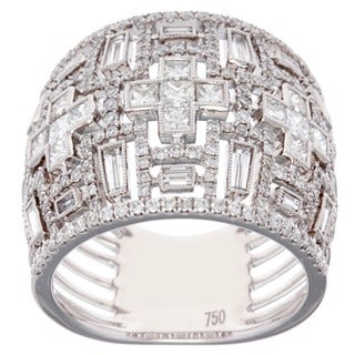 18k White Gold 1 7/8ct TDW Baguette Diamond Anniversary Ring (G-H, SI2-I1)