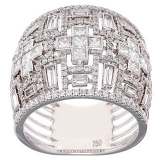 18k White Gold 1 7/8ct TDW Baguette Diamond Anniversary Ring (G-H, SI2-I1)