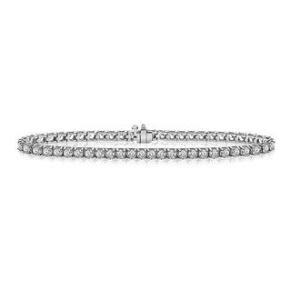 14k White Gold 11ct TDW Round-cut Certified Diamond Tennis Bracelet (F-G, SI3-I1)