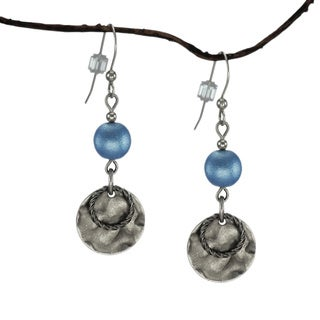 Jewelry by Dawn Blue With Hammered Double Drop Earrings
