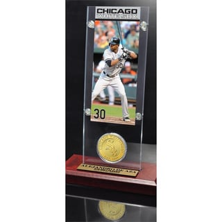 Alejandro De Aza Ticket & Minted Coin Acrylic Desk Top