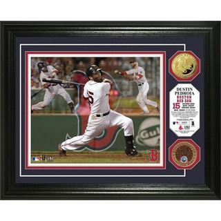 "Dustin Pedroia ""Triple Play"" Dirt Coin Photo Mint"