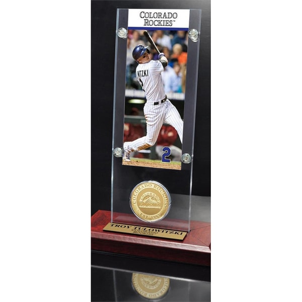 Troy Tulowitzki Ticket & Minted Coin Acrylic Desk Top