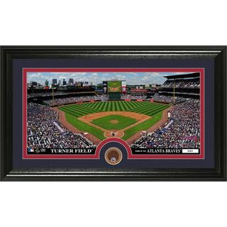 Atlanta Braves Infield Dirt Coin Panoramic Photo Mint