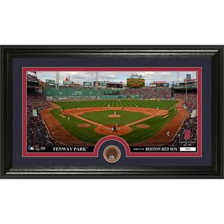 Boston Red Sox Infield Dirt Coin Panoramic Photo Mint