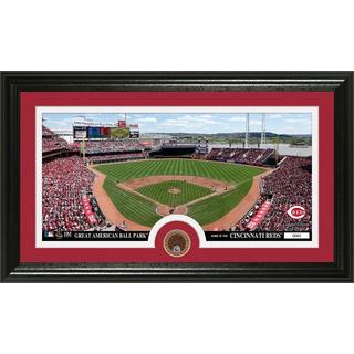 Cincinnati Reds Infield Dirt Coin Panoramic Photo Mint