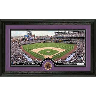 Colorado Rockies Infield Dirt Coin Panoramic Photo Mint