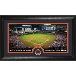 Houston Astros Infield Dirt Coin Panoramic Photo Mint